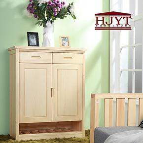 特价 实木家具宜家家居欧式简易防尘玄关松木隔断大容量田园鞋柜
