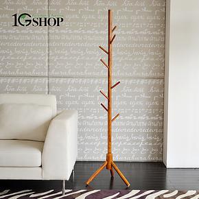 【1GShop】落地挂衣架实木衣帽架衣架时尚创意树枝衣服架晾衣架