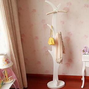 简单日子韩式创意衣帽架/田园风格挂衣架包包架挂钩/白色立地树型