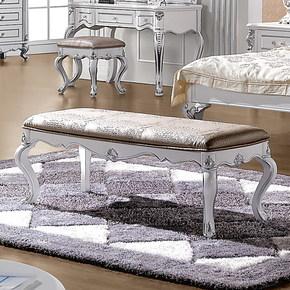 法拉丹顿 MJ实木床尾凳皮艺床凳 简约风格 欧式卧室家具