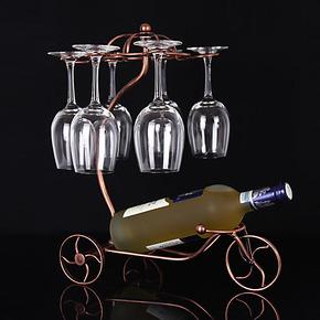 限区包邮红酒架葡萄酒架仿不锈钢酒架子创意红酒杯架双用家居摆件