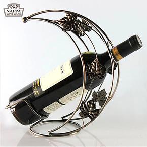 欧式铁艺月亮船酒架 创意葡萄酒架 时尚红酒架摆件酒具 特价秒杀