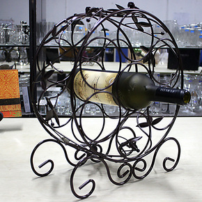 NAPPA/娜帕 新品维也纳酒架 铁艺不锈钢酒架 多瓶装酒架 圆形酒架