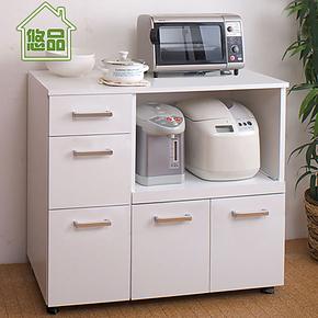 外拉式餐边柜 厨房收纳餐柜 橱柜子 简易阳台储物柜碗 带门家具
