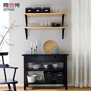 嘉宜美 现代风格实木餐边柜+4托架+2搁板托架组合 家居家具组合
