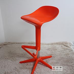 EHdecor家具 酒吧椅时尚休闲升降吧台椅子 欧式简约个性高脚凳