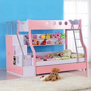 儿童房高低床子母床双层床上下床铺组合床高架床亲子床公主男孩床