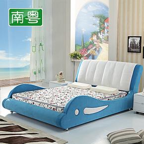 南粤布床 儿童床 特价 小孩床公主女孩婴儿床男孩1.5小床简易童床
