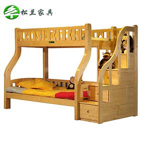 实木家具儿童床梯柜上下床高低床子母床上下铺踏步双层床小孩床