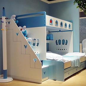 MHJ 儿童床 男孩高低床子母床 1.5米上下床双层床组合 女孩公主床