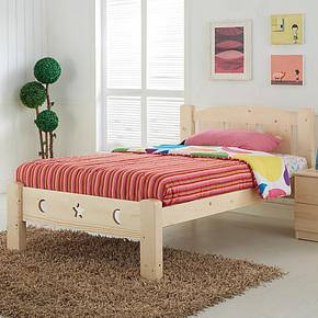 塞娜玫瑰 实木单人床儿童床男孩公主城堡床 1.5松木王国青少年床
