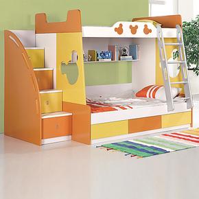 双层床儿童床上下床儿童家具上下铺子母床男孩卡通床 彩色 包物流