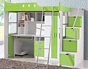 包物流维瑞莱思 儿童双层床 衣柜床 书桌 衣柜组合床 高低床套房