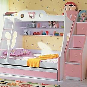 安歌里尔特价1.2米米奇双层床 高低床 子母床学生功能床