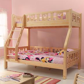 迪士尼高低床子母床 芬兰松木儿童床 酷漫居实木上下双层床挂梯