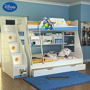 儿童床双层上下床 实木颗粒床 高低床子母床 迪士尼维尼滑炫风