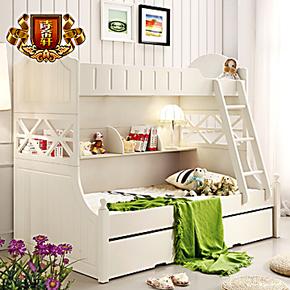 诗帝轩家具 双层床子母床 儿童床高低床 多功能儿童床 套房上下床