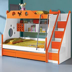 MHJ 1.2米儿童床 上下床双层床三层床男孩高低子母床多功能组合床