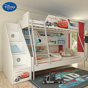 迪士尼 酷漫居 双层床 母子床 子母高低床 儿童床上下铺 汽车风暴