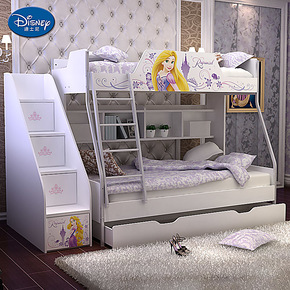 迪士尼 儿童床 高低床 双层床 子母床 上下床 长发公主魔堡奇缘