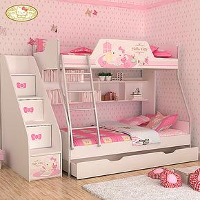 Hello kitty 酷漫居 公主床双层床儿童床高低床儿童家具 甜蜜时刻