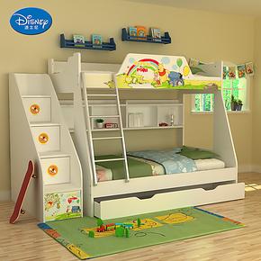 迪士尼 儿童家具组合床上下床 双层床高低床儿童床 维尼的故事