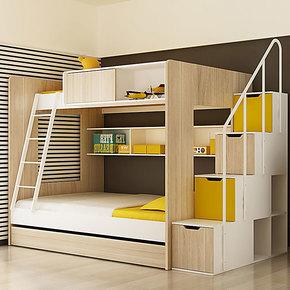 ikazz 儿童双层床子母床 儿童床高低床 男孩上下床上下铺家具C款