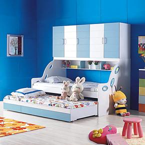 儿童衣柜床 高低床子母床 上下铺床 母子床 双层床组合床 儿童床