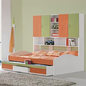 名就家具双层床 双层床 子母床 高低床 上下床 儿童床 三抽 白色