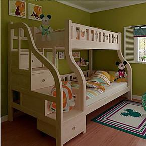 儿童双层床/实木上下铺/儿童高低床/子母床/松木上下床 儿童床