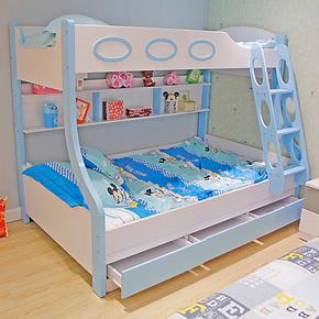 简迪 儿童家具卧室套房双层床 子母床 上下高低床 三层床 QC22