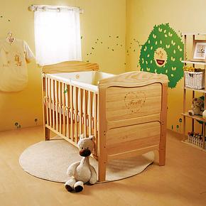 ForU芙儿优 巴塞罗那婴儿床 进口实木环保漆婴儿床 bb床童床 热卖