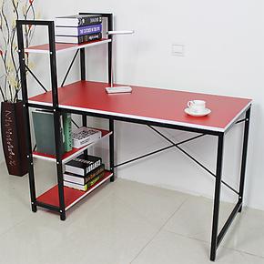 翔跃 简约钢木书柜书桌组合笔记本书桌学习桌书架台式电脑桌特价
