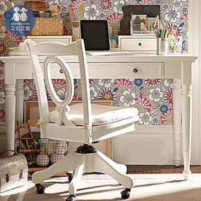 艾伦艾妮卡米尔 儿童学习桌书桌 学生书桌写字台 多功能书桌美式