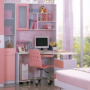 FRPS套房家具 儿童学习桌 189-书桌书架组合 转角书桌1.2*1.2米