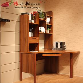 【装修节】中式连体转角书桌书柜组合简约书台电脑桌办公书架