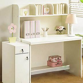 强象家具板式书桌书架组合简约现代写字台电脑桌书架特价FL-003