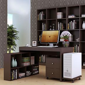 包邮组合台式家用 宜家简洁移动书柜特价办公桌书桌电脑桌 写字台