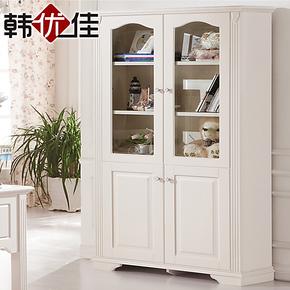 韩优佳 田园两门三门书柜 欧式时尚储物柜 柜子 自由组合宜家特价