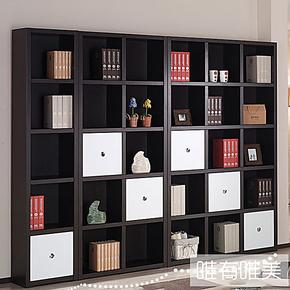 【唯有唯美】板式简约现代板式家具时尚黑白书柜 书架 书橱SG031