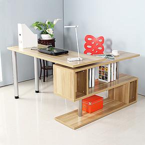 简约现代转角电脑桌台式桌家用写字台书桌书架组合办公桌子