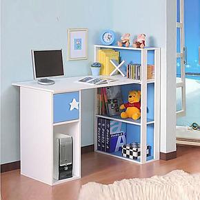 包邮 时尚书桌书柜组合 简约家用台式电脑桌办公桌书桌写字台