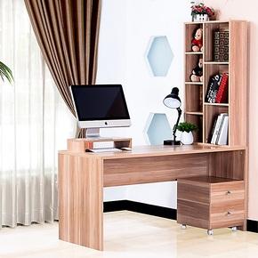 包邮 宜家时尚简约简洁分体书柜电脑桌家用台式办公桌 组合书桌