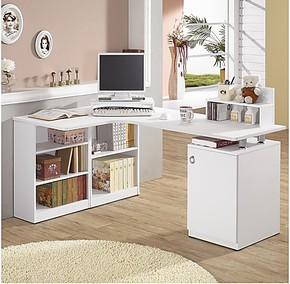 包邮电脑桌转角办公桌简约书架办公桌时尚简约家用办公桌写字台
