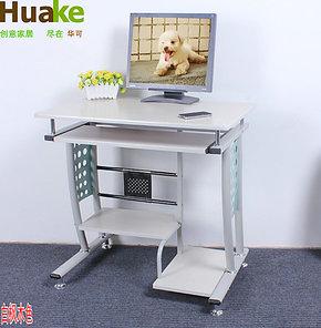 华可钢化玻璃电脑桌台式桌家用 简约书桌 时尚桌子 特价801B#