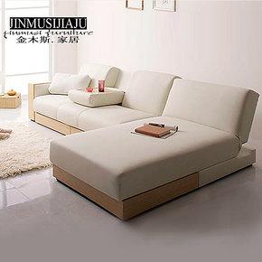 金木斯 厂家直销贵妃椅沙发床 超大储物 时尚客厅转角沙发