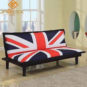 简适轩 英伦风情 折叠沙发床 双人休闲沙发床 小户型布艺沙发 207