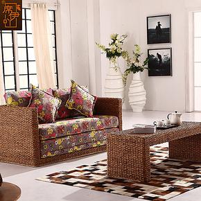 席伊吖 藤家具沙发折叠沙发床1.2 1.6 1.8米懒人双人沙发床小户型