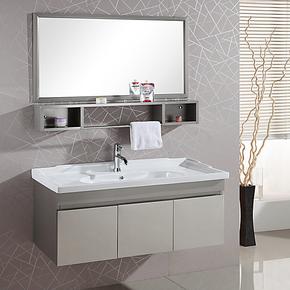 欧尔勒新款/304不锈钢浴室柜/无醛环保防水卫浴柜洗脸盆组合E8021