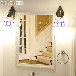 BOLEN 带斜边的5MM银镜浴室镜/卫生间镜子/欧式田园镜卫浴镜0008